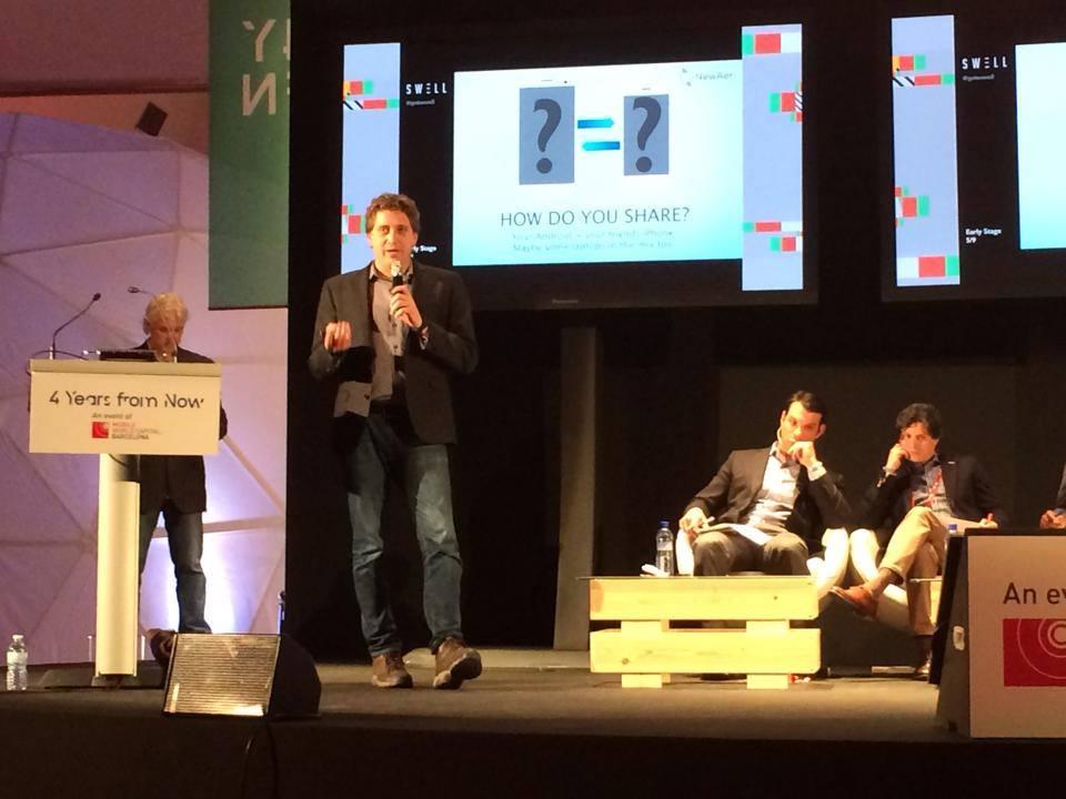 Dave presenting at 4YFN GSMA Barcelona