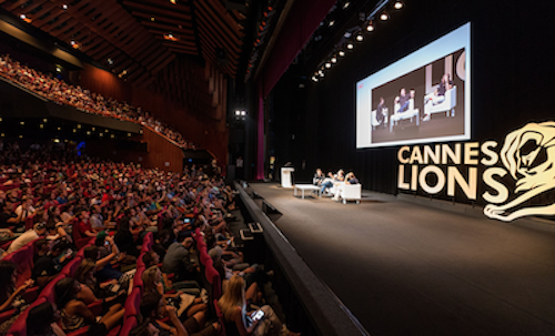 Cannes Lions from the stage